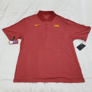 NEW NIKE Dri Fit Polo Shirt Mens XXL Red USC